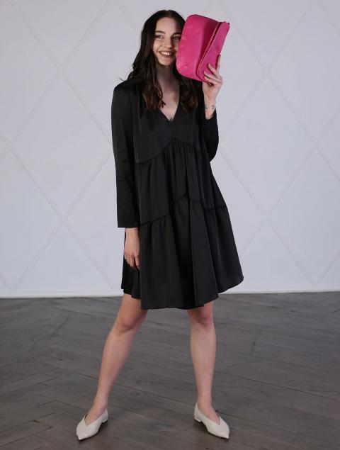 Платье черное короткое
