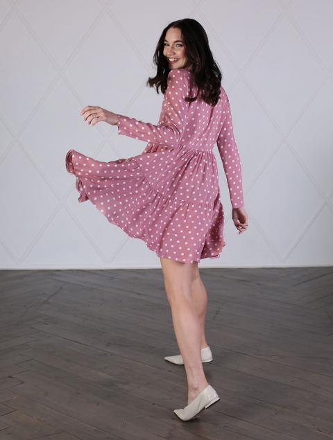 Платье розовое короткое