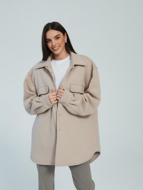 Утепленная рубашка-пальто